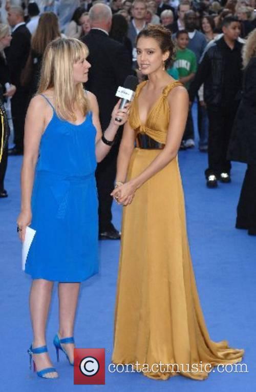 Jessica Alba being interviewd by Edith Bowman World...