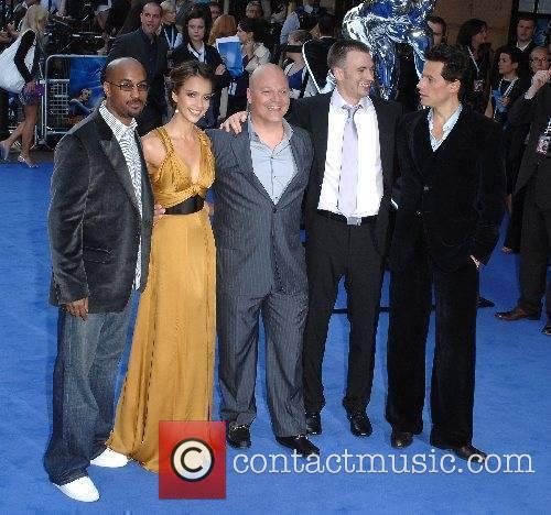 Tim Story, Jessica Alba, Michael Chiklis, Chris Evans,...