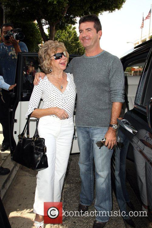Simon Cowell and His Mother Julie Cowell 2