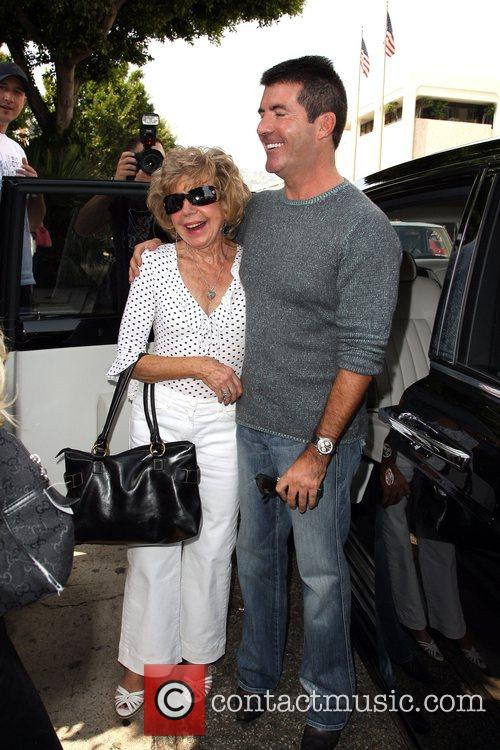 Simon Cowell and His Mother Julie Cowell 11