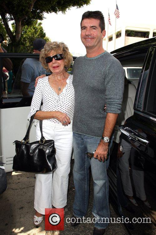 Simon Cowell and His Mother Julie Cowell 1