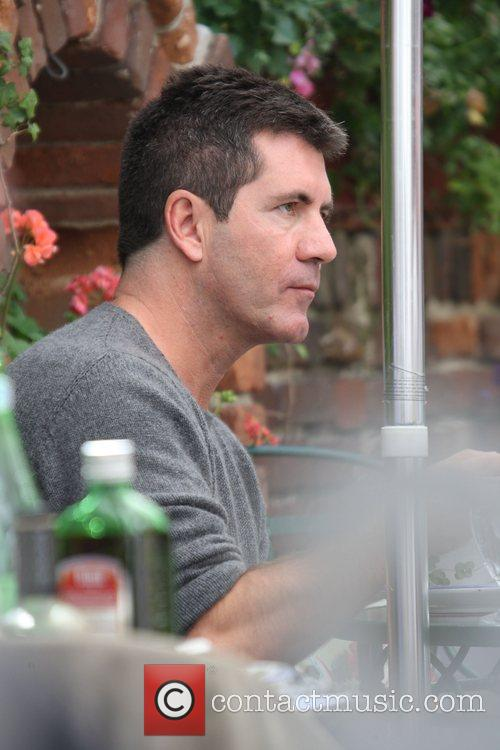 Simon Cowell at the Ivy restaurant Los Angeles,...