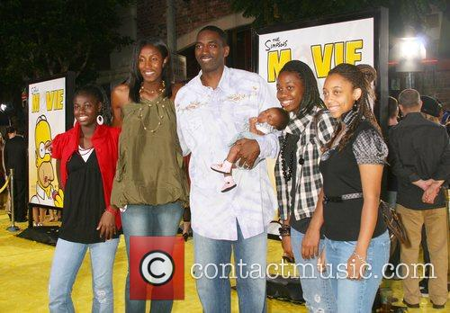 Lisa Leslie and family 'The Simpsons Movie' World...