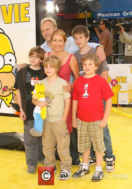 Patricia Heaton and family 'The Simpsons Movie' World...