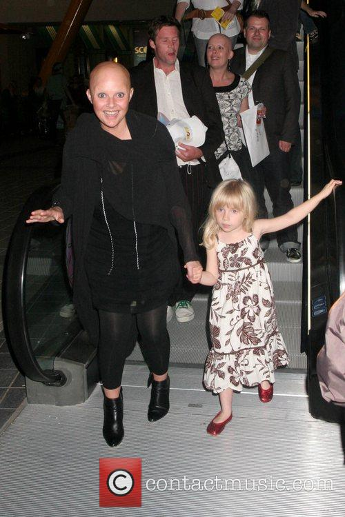 Gail Porter and her daughter The Simpsons Movie'...