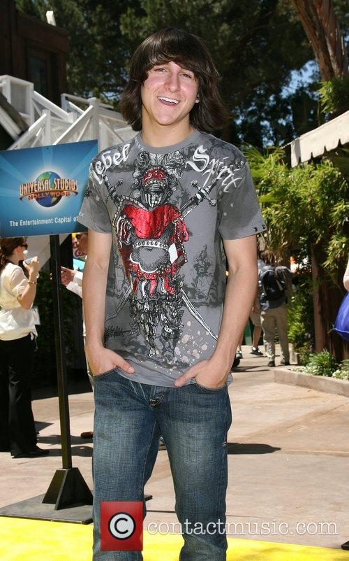 Mitchel Musso The Simpsons ride opens at Universal...