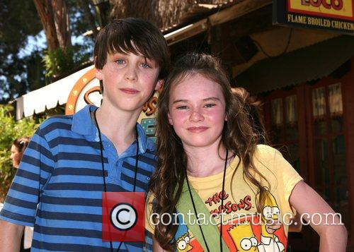 Sterling Beaumon & Madeline Carroll The Simpsons ride...