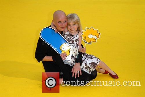 Gail Porter and Daughter Honey 'The Simpsons Movie'...