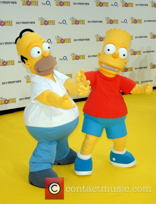 Homer Simpson and Bart Simpson 'The Simpsons Movie'...