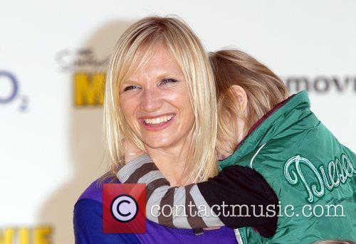 Jo Whiley and Child 'The Simpsons Movie' UK...