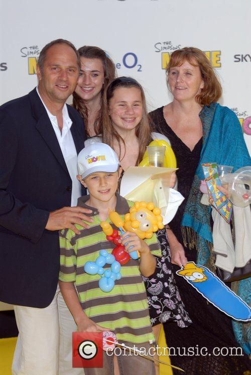Sir Steve Redgrave and Family 'The Simpsons Movie'...