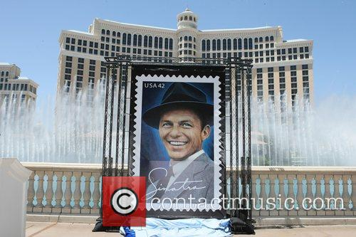 Unveiling of the Frank Sinatra stamp in front...