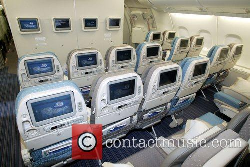 Singapore Airlines A380 Economy class seating aboard the...