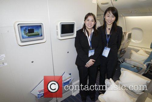 Aboard the the A380 being shown at the...