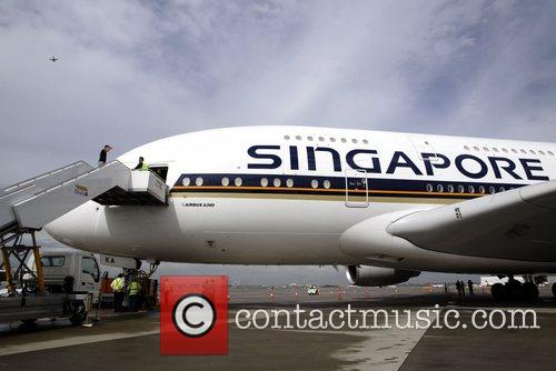 A380 aircraft being shown at the Sydney Kingsford...