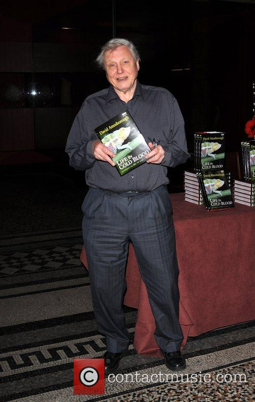 81-year-old wildlife documentary-maker signs copies of 'Life In...