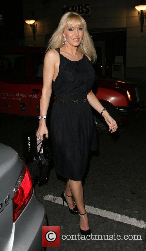 Emma Noble arriving at Sketch nightclub London, England