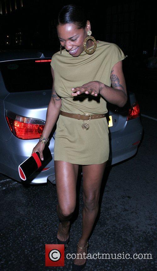 Sonique arriving at Sketch nightclub London, England