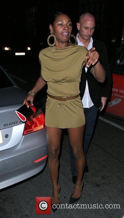 Sonique arriving at Sketch nightclub