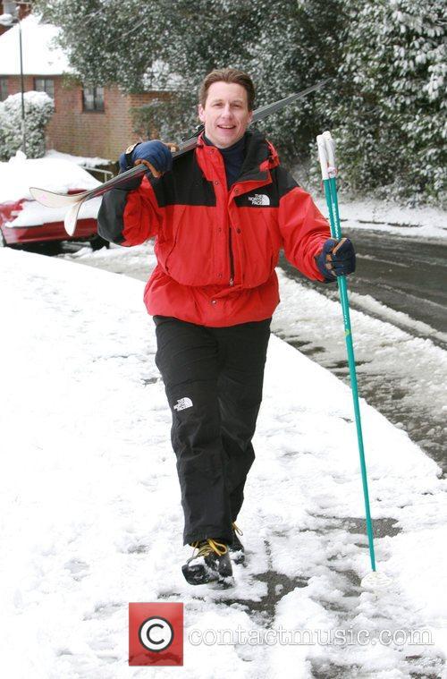 a skier enjoying the snow surrey, England