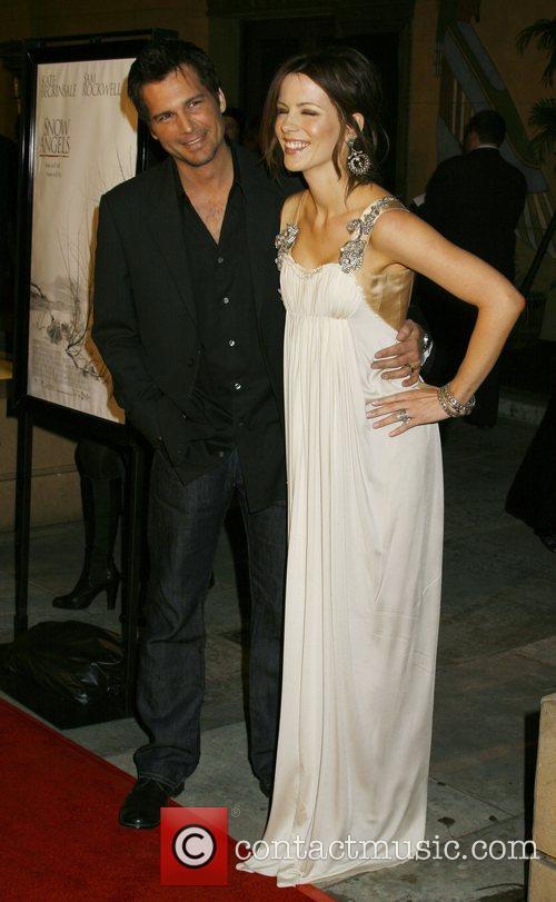 Len Wiseman and Kate Beckinsale Los Angeles premiere...