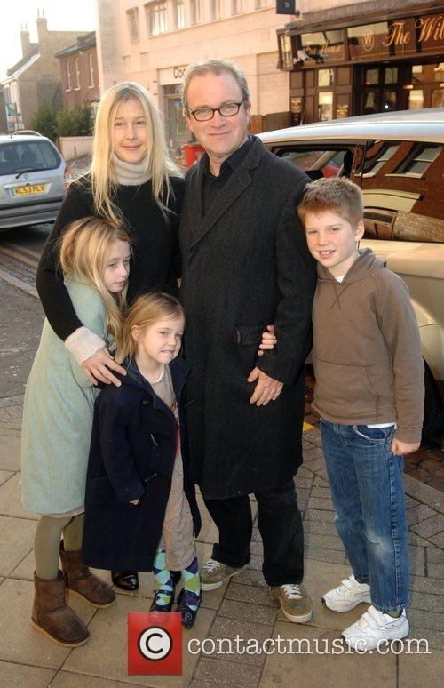 Harry Enfield with wife Lucy Lyster and children...