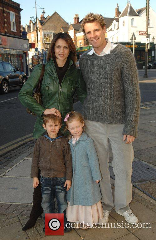 James Cracknell, Beverley Turner and children VIP performance...