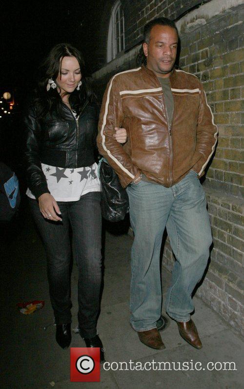 Martine McCutcheon and her new boyfriend,  Inside...