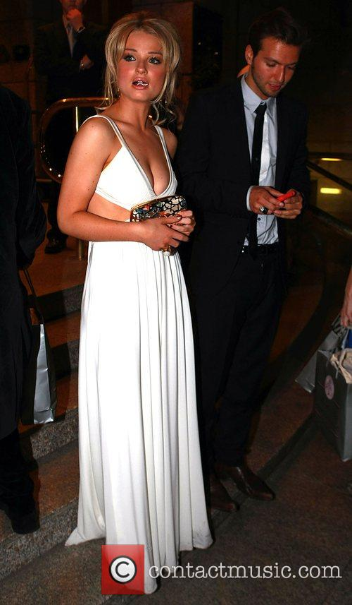 Emma Rigby arrives at her hotel after the...