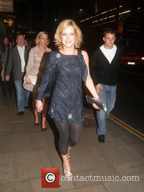 Gemma Bissix Celebrities arrive at their hotel after...