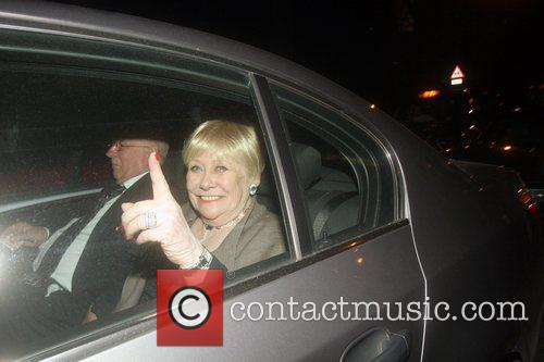 Liz Dawn Celebrities arrive at their hotel after...
