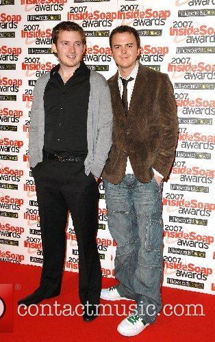 Matt Littler and Darren Jeffries Inside Soap Awards...