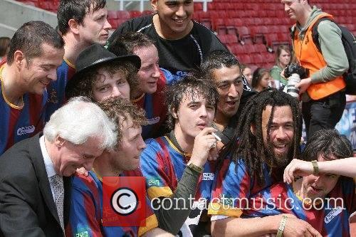 Pete Doherty and team mates Music Industry Soccer...