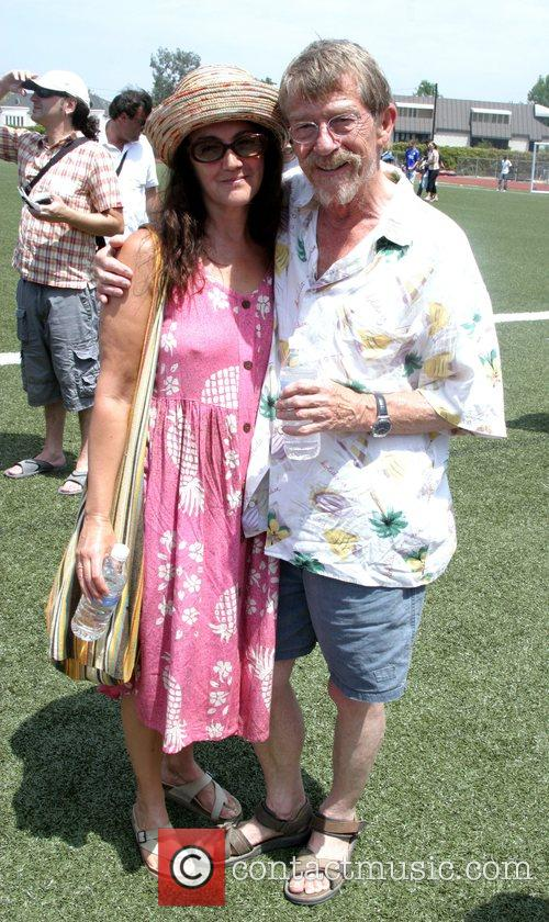 John Hurt and Wife Anwen 'Soccer For Survivors'...