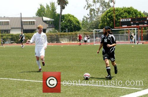 Alexi Lalas and Santiago Cabrera 'Soccer For Survivors'...