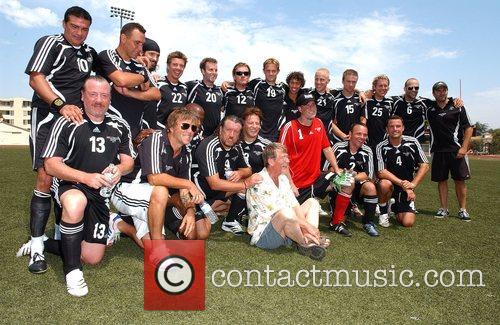 Hollywood United Europe team 'Soccer For Survivors' celebrity...