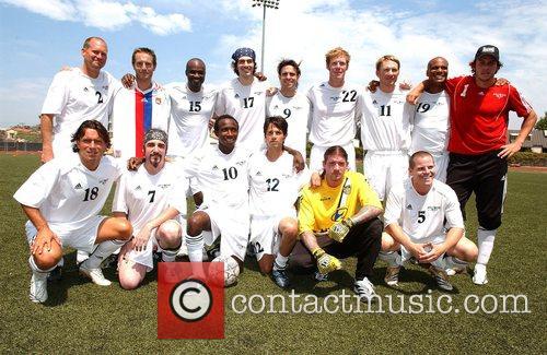 Hollywood United Global team 'Soccer For Survivors' celebrity...