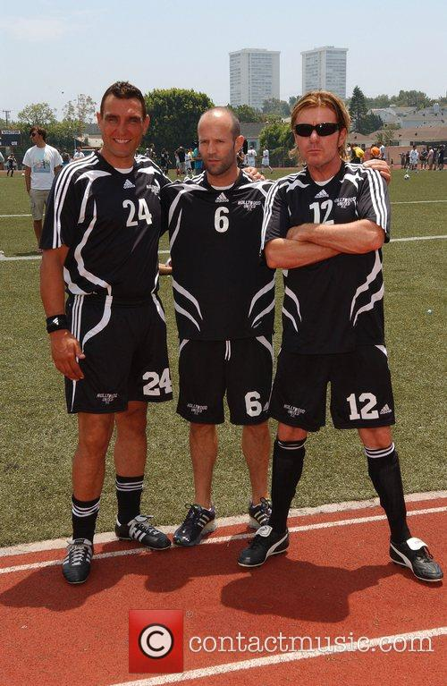 Vinnie Jones and Jason Statham 'Soccer For Survivors'...
