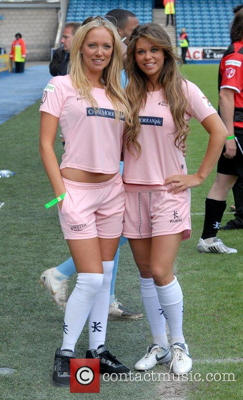Aisleyne Horgan-Wallace and Bianca Gascoigne Soccer Six at...