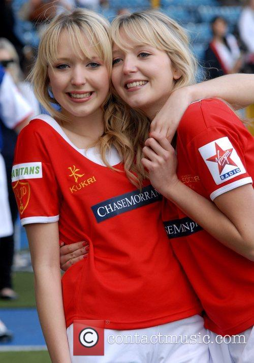 Samantha Marchant and Amanda Marchant Soccer Six at...