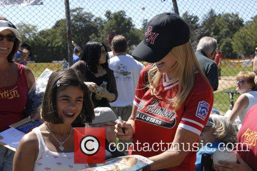 Christie Brinkley Artists and Writers annual Softball game...