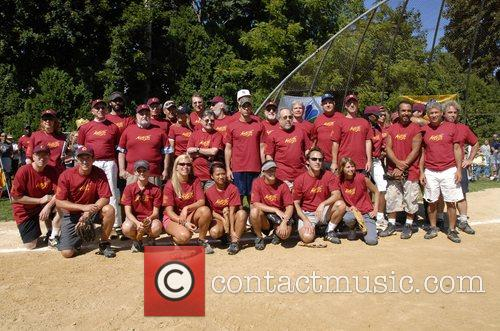 The Artists team Artists and Writers annual Softball...