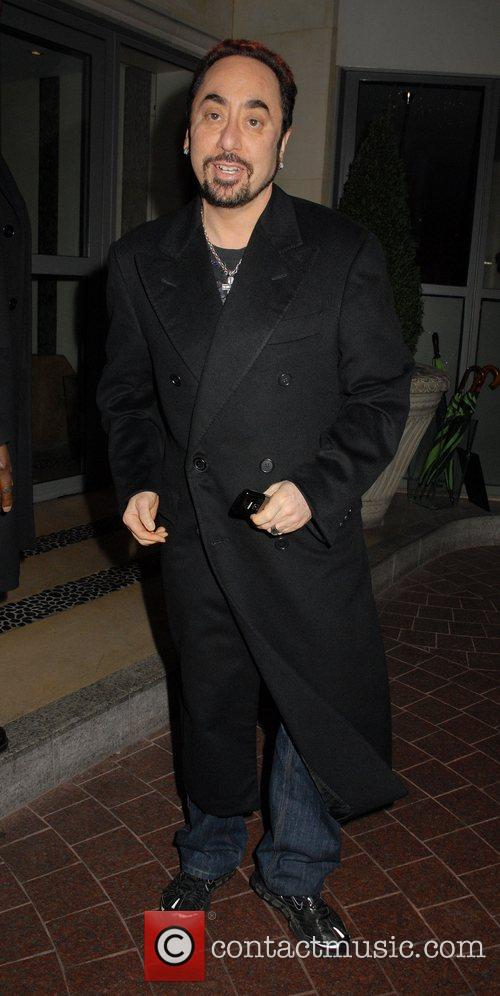 David Guest arriving at the Soho Hotel