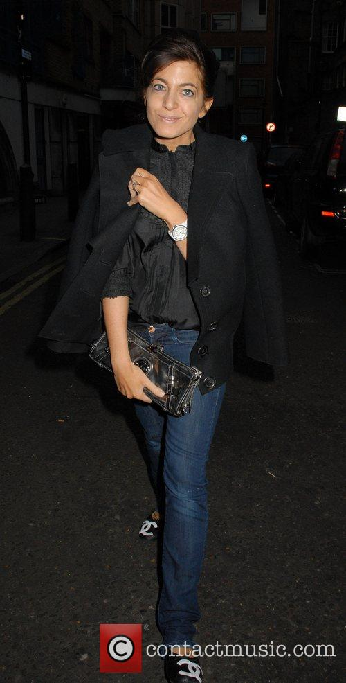 Claudia Winkleman arriving at the Soho Hotel for...