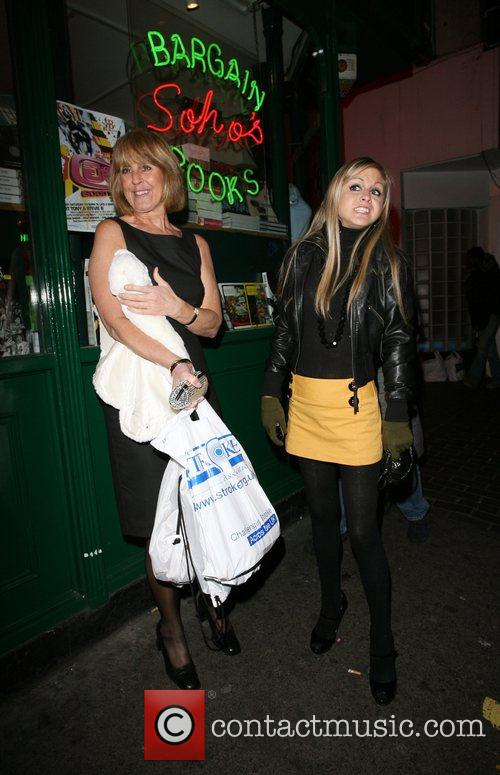 Nikki Grahame and her mother wait for a...