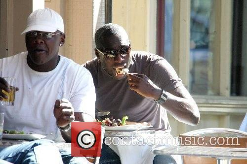 Sol Campbell enjoys a healthy salad in the...