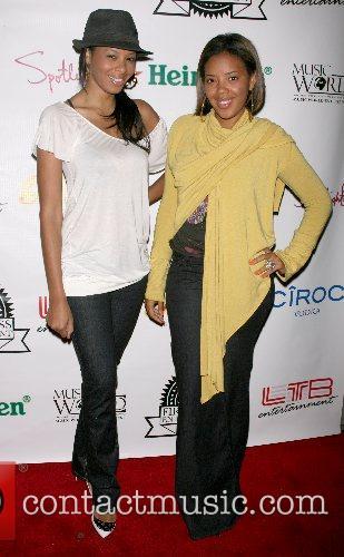 Vanessa Simmons and Angela Simmons Music World Entertainment...