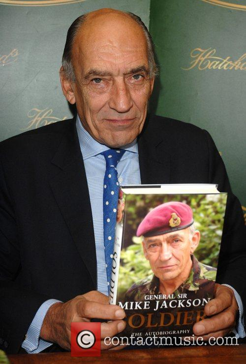 General Sir Mike Jackson signs his new autobiography...
