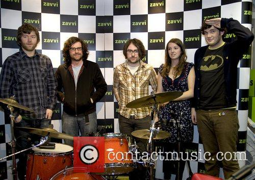 The Sonic Hearts performing at Zavvi store as...