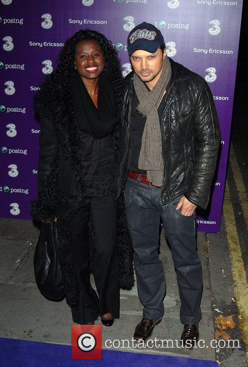 June Sarpong and guest Sony Ericsson K770i phone...